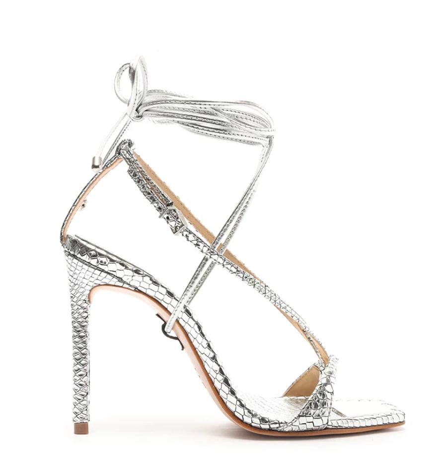 Schutz The Vikki Heel in Silver $128