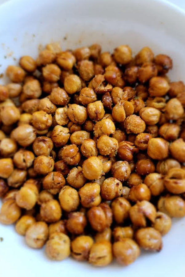 flavored chickpeas in bowl