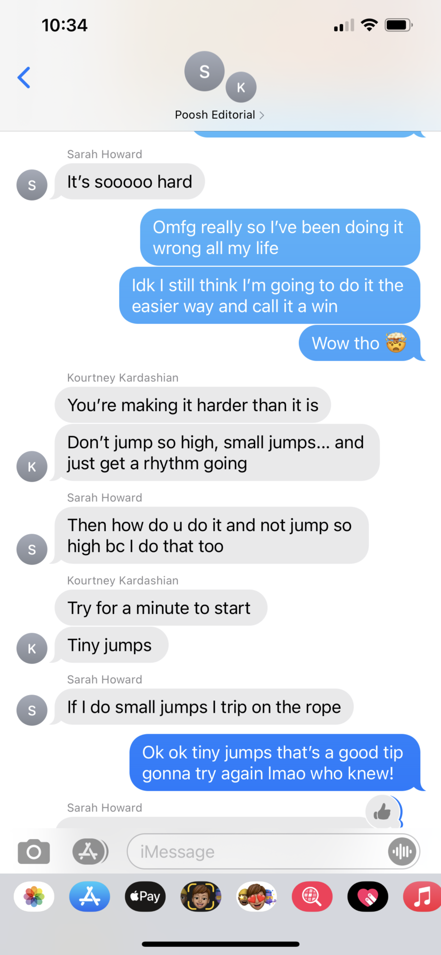 text message convo about jumping rope part 3