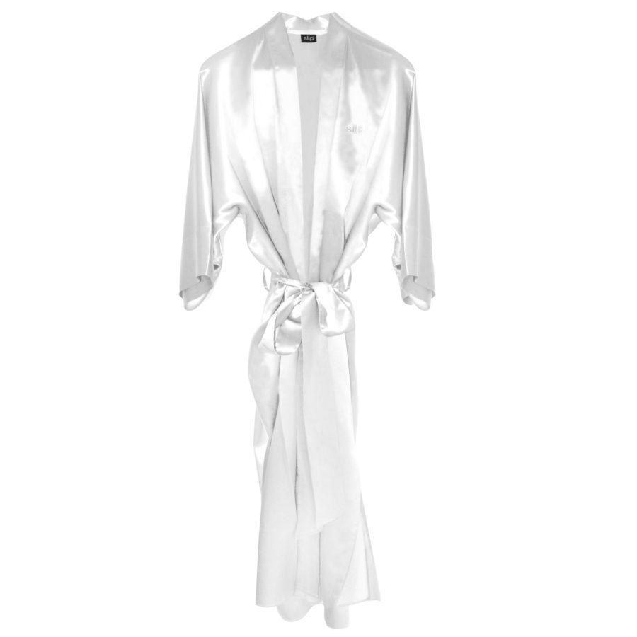 Slip Silk White Robe $500