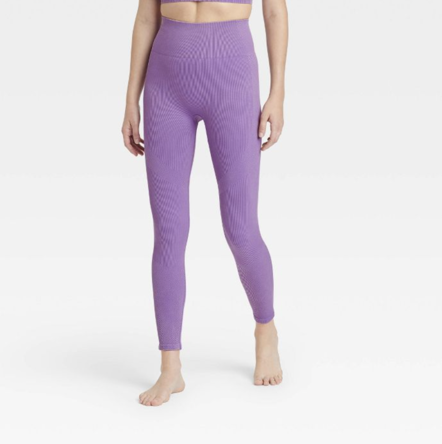 Women's High-Rise Ribbed Seamless 7/8 Leggings - JoyLab™ $34
