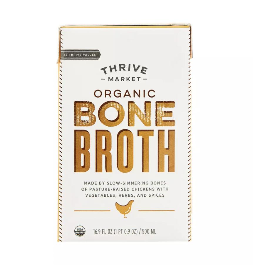 thrive market organic chicken bone broth $7