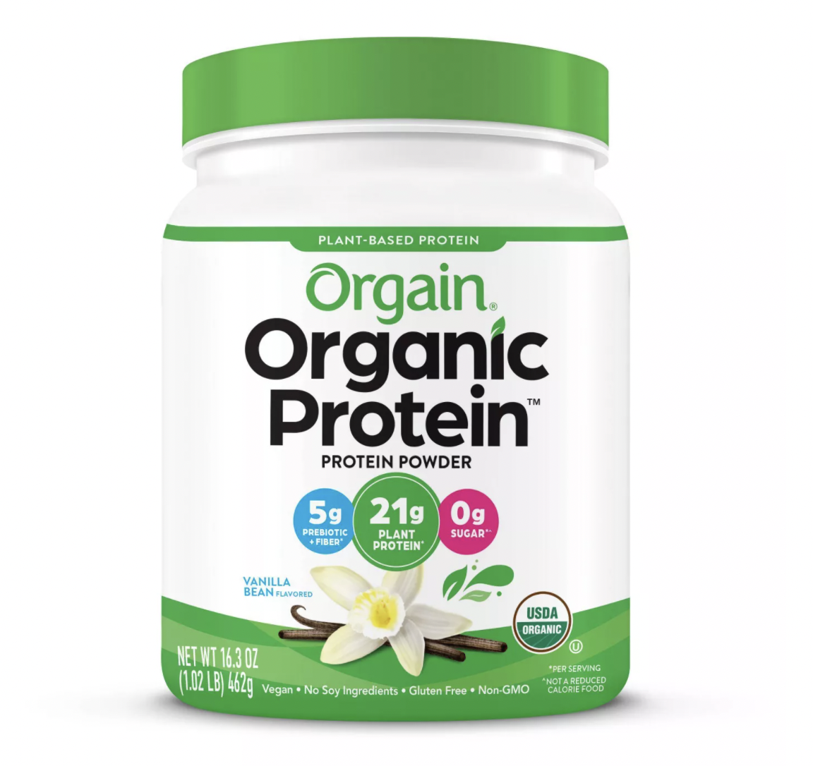 Orgain Organic Vegan Plant-Based Protein Powder - Vanilla Bean - 16.32oz $22
