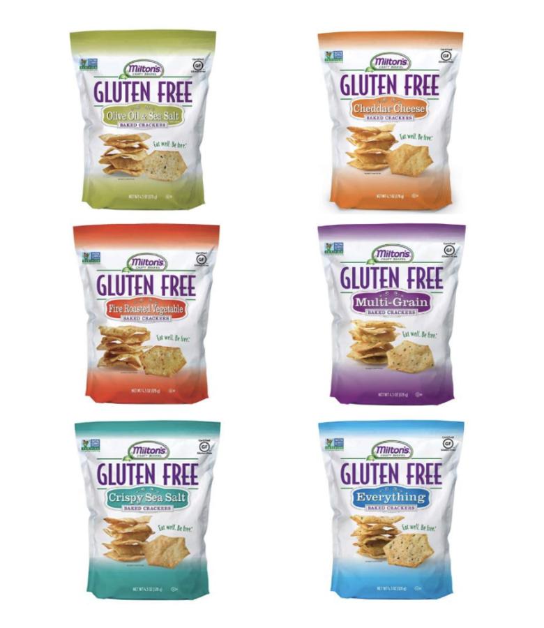 Milton's Gluten Free Crackers Bundle. Six Flavor Variety Gluten-Free Baked Crackers $26