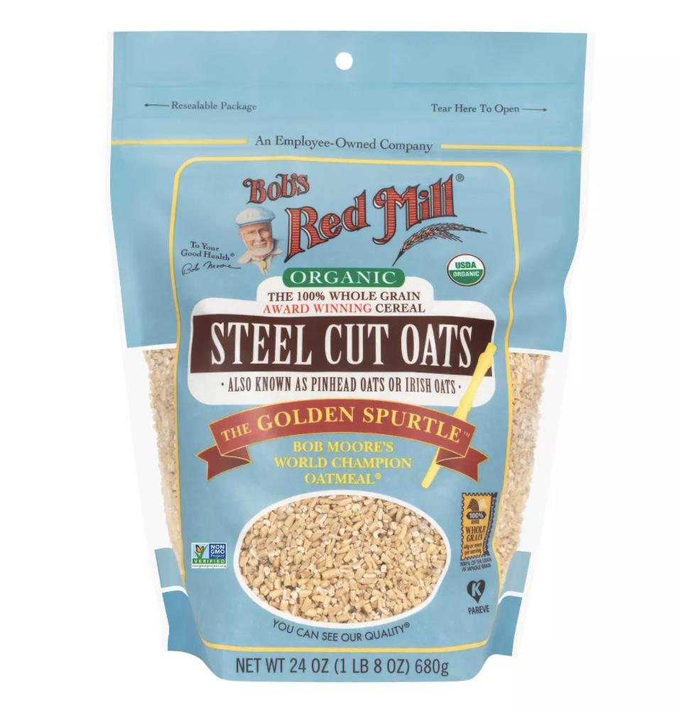 Bob's Red Mill Organic Steel Cut Oats - 24oz $5